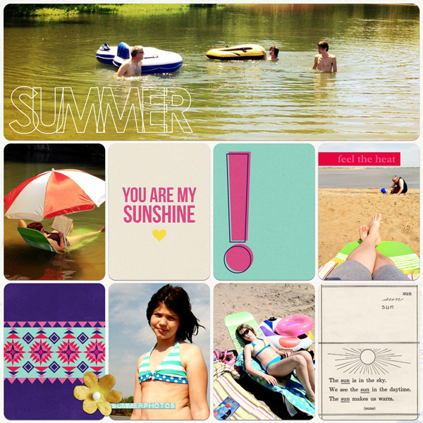 "Digital Scrapbook page created by misskim featuring ""Aztec Summer"" by Sahlin Studio"