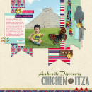 """Digital Scrapbook page created by raquels featuring """"Aztec Summer"""" by Sahlin Studio"""