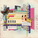"Digital Scrapbook page created by scrappydonna featuring ""Aztec Summer"" by Sahlin Studio"