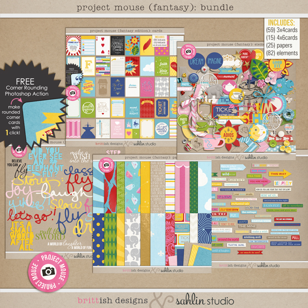 "Project Mouse: BUNDLE "" Fantasy Edition"" by Britt-ish Designs and Sahlin Studio"