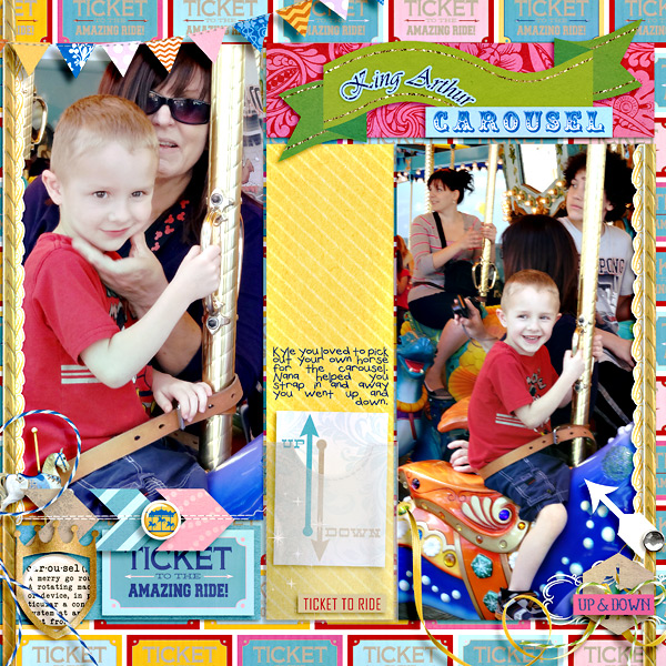 "Digital Scrapbook page created by camijo featuring ""Project Mouse (Fantasy)"" by Sahlin Studio"