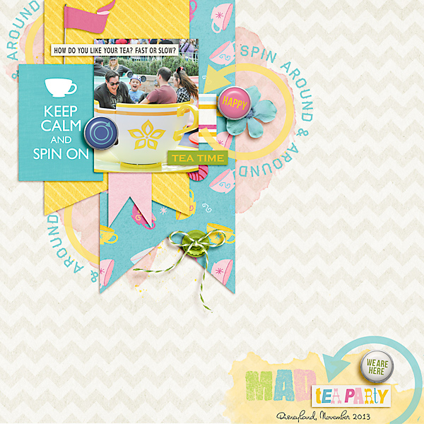 "Disney Digital Scrapbook page created by Carolee featuring ""Project Mouse (Fantasy)"" by Sahlin Studio"
