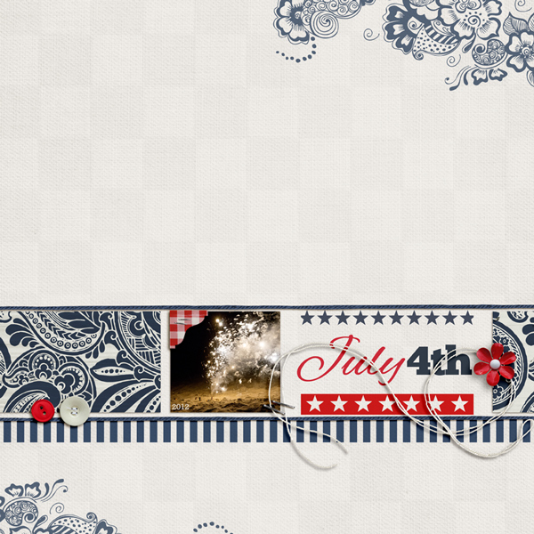 "Digital Scrapbook page created by aballen featuring ""Country Fair Picnic"" by Sahlin Studio"
