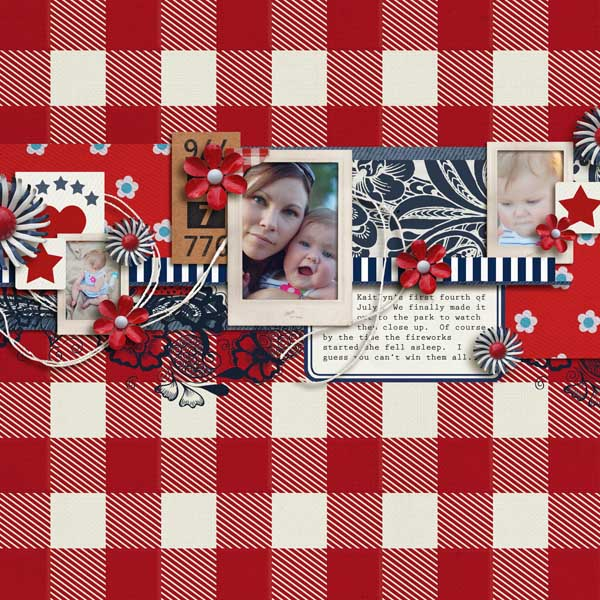 "Digital Scrapbook page created by brendasmith featuring ""Country Fair Picnic"" by Sahlin Studio"