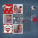 "Digital Scrapbook page created by dotcomkari featuring ""Country Fair Picnic"" by Sahlin Studio"