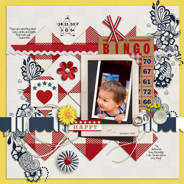 "Digital Scrapbook page created by mikinenn featuring ""Country Fair Picnic"" by Sahlin Studio"