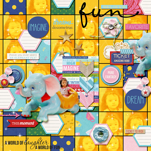 "Disney Digital Scrapbook page created by dianeskie featuring ""Project Mouse (Fantasy)"" by Sahlin Studio"