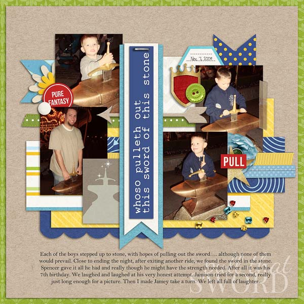 """Digital Scrapbook page created by hairica featuring """"Project Mouse (Fantasy)"""" by Sahlin Studio"""