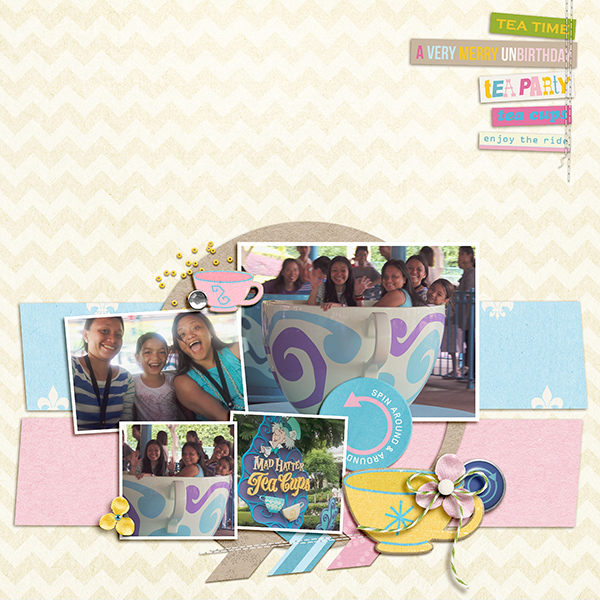 "Disney Digital Scrapbook page created by kaydee featuring ""Project Mouse (Fantasy)"" by Sahlin Studio"