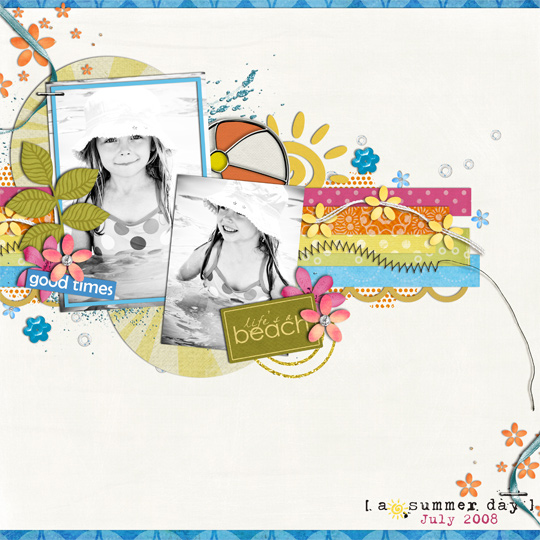 Summer Beach Layout by cindy07032004 featuring Life's a Beach Sahlin Studio