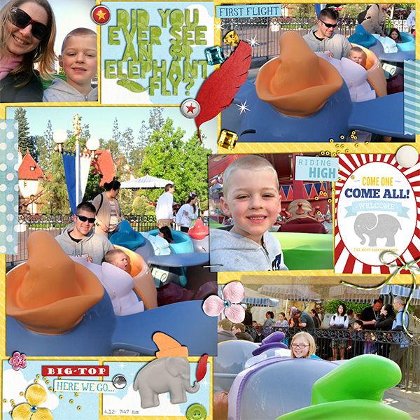 "Disney Digital Scrapbook page created by littlemuffin06 featuring ""Project Mouse (Fantasy)"" by Sahlin Studio"