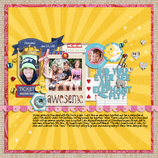 "Disney Digital Scrapbook page created by mikinenn featuring ""Project Mouse (Fantasy)"" by Sahlin Studio"