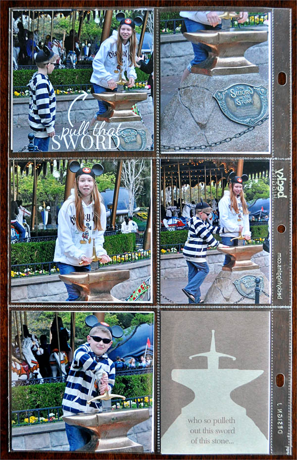 Disney Project Life page created by kristasahlin featuring Project Mouse (Fantasy) by Sahlin Studio & Britt-ish Designs