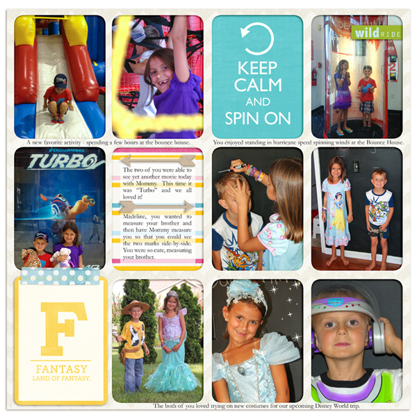 Project Life page created by rlma featuring Project Mouse (Fantasy) by Sahlin Studio & Britt-ish Designs