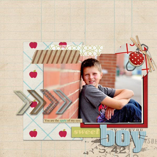 Digital Scrapbook Layout by ctmm4 featuring Apple Orchard by Sahlin Studio
