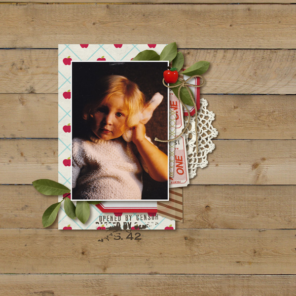 Digital Scrapbook Layout by MlleTerraMoka featuring Apple Orchard by Sahlin Studio