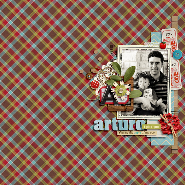 Digital Scrapbook Layout by raquels featuring Apple Orchard by Sahlin Studio