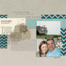 Summer Ocean digital scrapbook page created by teresavictor featuring Sahlin Studio goodies