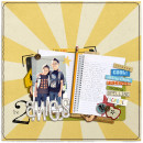 First Day of School Digital Scrapbook Layout by lizzy using Explore.Learn.Grow. Kit and Snipettes: Explore.Learn.Grow. by Sahlin Studio
