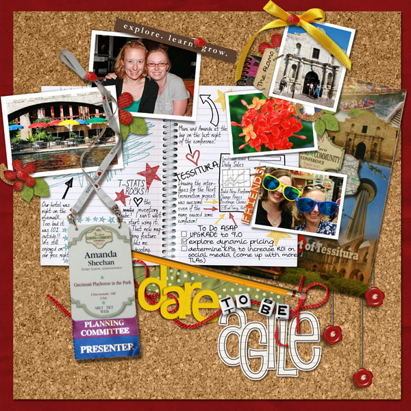 Exploring (dare to be agile) digital scrapbook Layout by panders77 using Explore.Learn.Grow. Kit  by Sahlin Studio