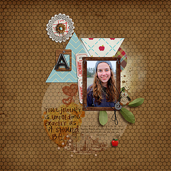 Digital Scrapbooking layout by Heather Prins featuring Sahlin Studio's FREE September 2013 Template
