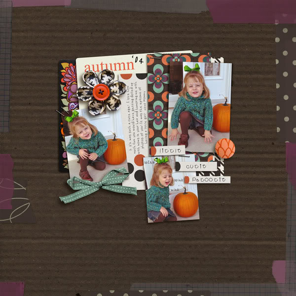 Fall / Autumn digital scrapbook layout created by norton94 featuring Autumn Moon by Sahlin Studio