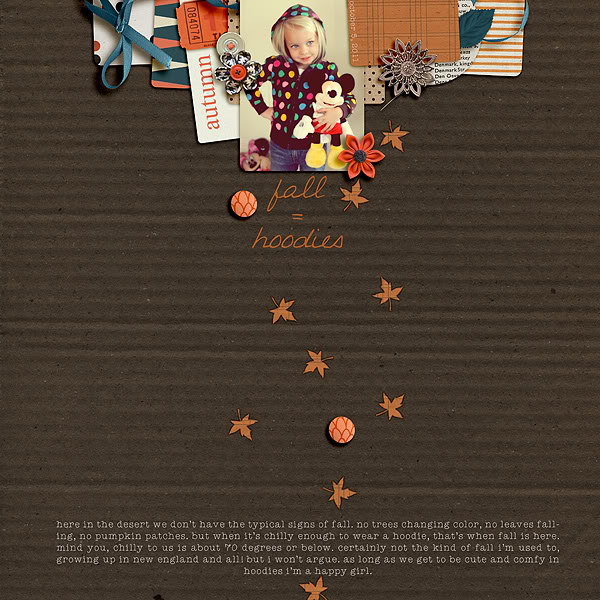 Fall / Autumn digital scrapbook layout created by mrsski07 featuring Autumn Moon by Sahlin Studio