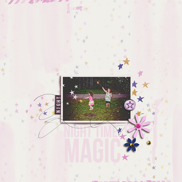 Sparkler Patriotic Fireworks digital scrapbook layout by JennBarrette using Project Mouse: At Night by Sahlin Studio & Britt-ish Designs