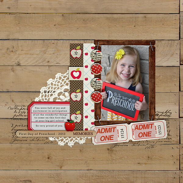 Digital Scrapbook Layout by TeresaVictor featuring Apple Orchard by Sahlin Studio