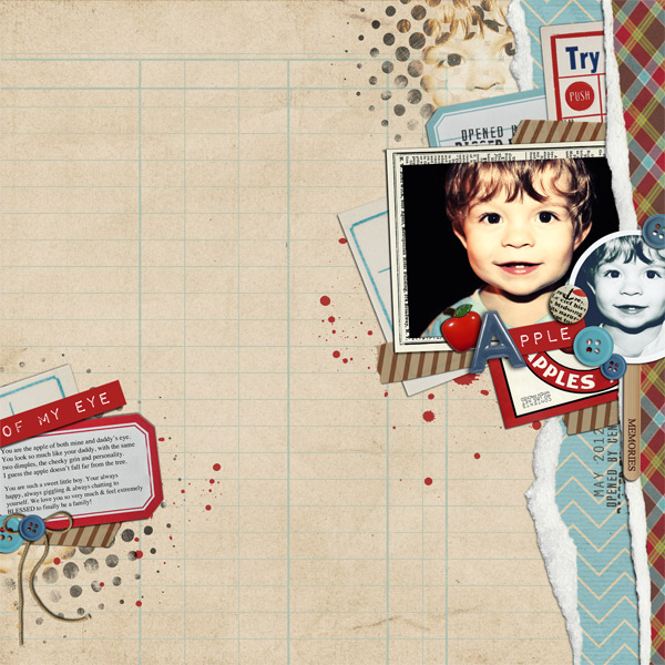 Digital Scrapbook Layout by Justagirl featuring Apple Orchard by Sahlin Studio