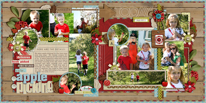Digital Scrapbook Layout by cindys732003 featuring Apple Orchard by Sahlin Studio