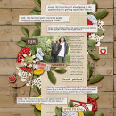 Digital Scrapbook Layout by kim21673 featuring Apple Orchard by Sahlin Studio