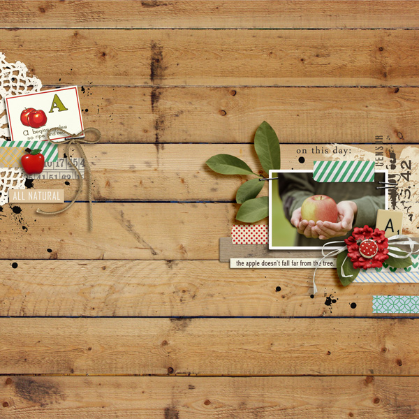Digital Scrapbook Layout by sucali featuring Apple Orchard by Sahlin Studio