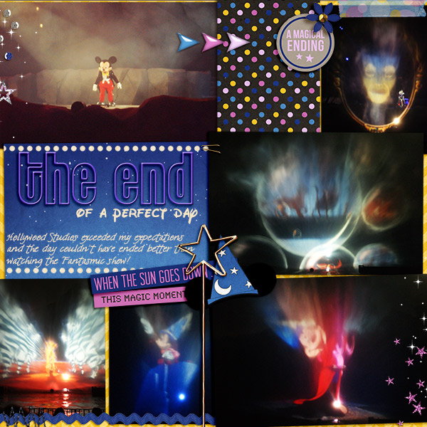 Disney After Dark Project Life page layout by becca using Project Mouse: At Night by Sahlin Studio & Britt-ish Designs