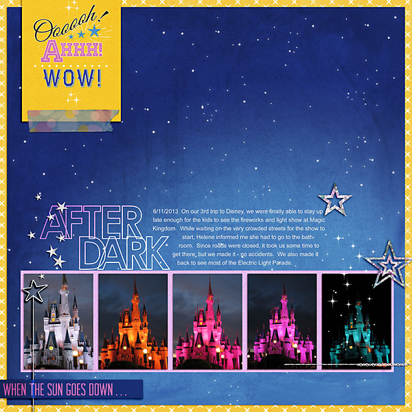 light show layout by stampin_rachel using Project Mouse: At Night by Sahlin Studio & Britt-Ish Designs