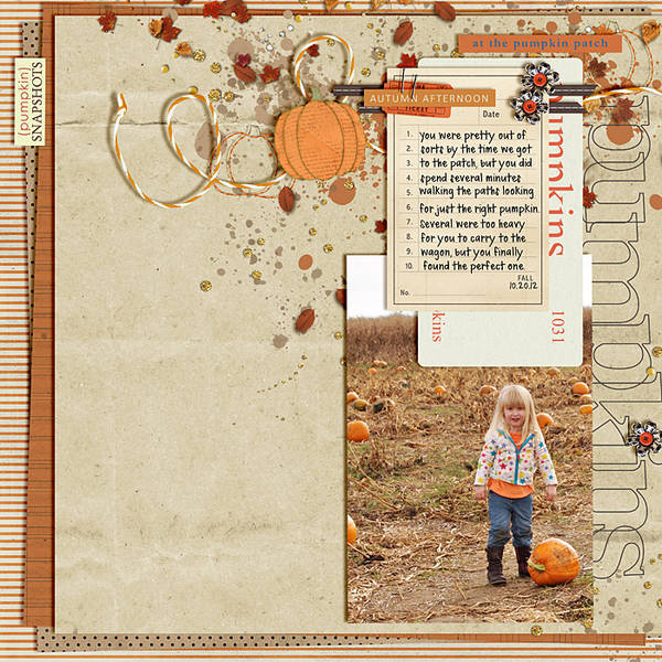 "autumn digital scrapbooking layout featuing ""autumn moon"" by sahlin studio layout by LeeAndra"