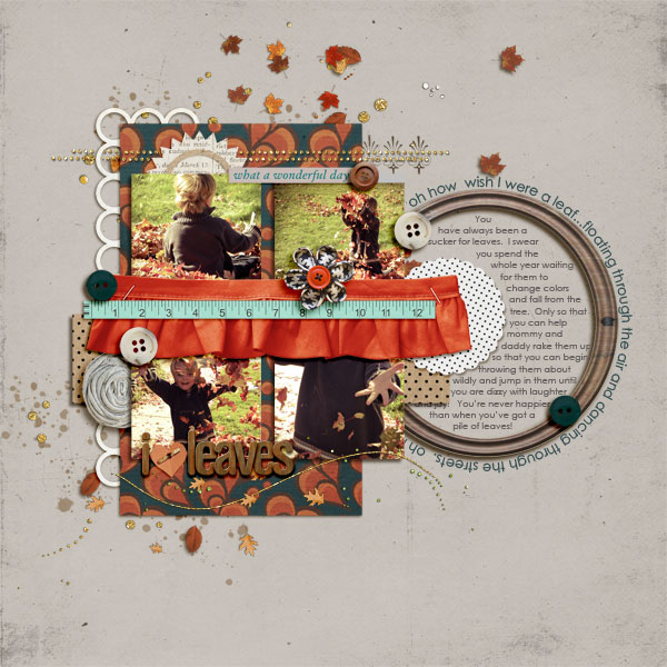 "autumn digital scrapbooking layout featuing ""autumn moon"" by sahlin studio layout by askings"