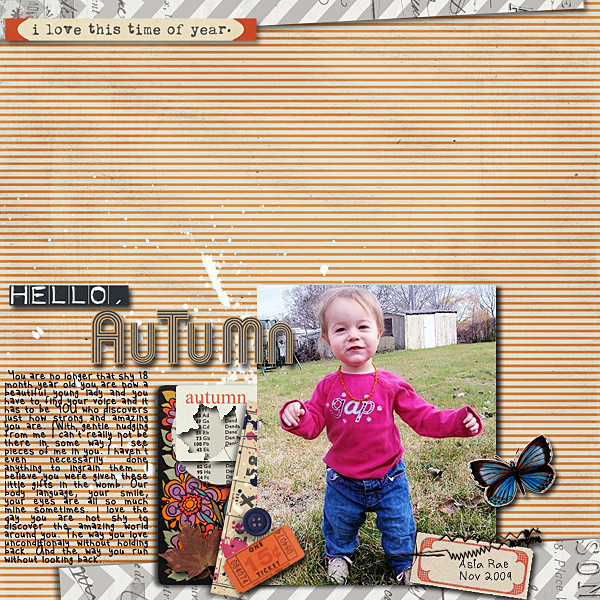 "autumn digital scrapbooking layout featuing ""autumn moon"" by sahlin studio layout by dotcomkari1"