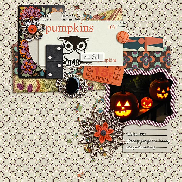 "autumn digital scrapbooking layout featuing ""autumn moon"" by sahlin studio layout by gonewiththewind"