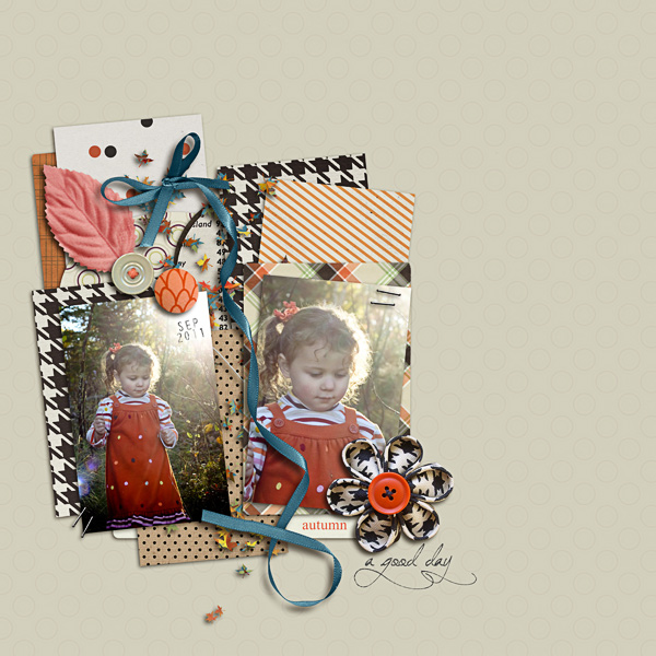 "autumn digital scrapbooking layout featuing ""autumn moon"" by sahlin studio layout by jennbarrette"