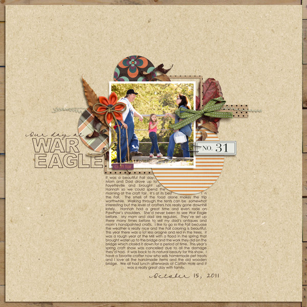 "autumn digital scrapbooking layout featuing ""autumn moon"" by sahlin studio layout by kat"