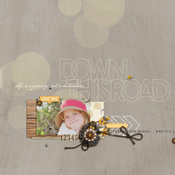 Snapshot layout by 3littleks using Country Road Kit, Country Road Journal Cards, Country Road Word Art by Sahlin Studio