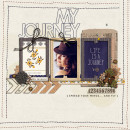 My Journey layout by Damayanti using Country Road Kit, Country Road Journal Cards, Country Road Word Art by Sahlin Studio
