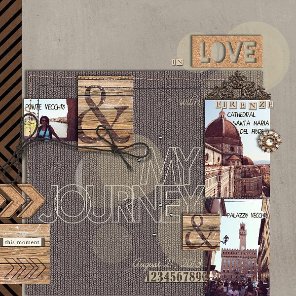 Travel / City digital scrapbook layout by Hanazana1 using Country Road by Sahlin Studio