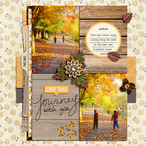 Fall / Autumn digital scrapbook layout by christineirion using Country Road by Sahlin Studio
