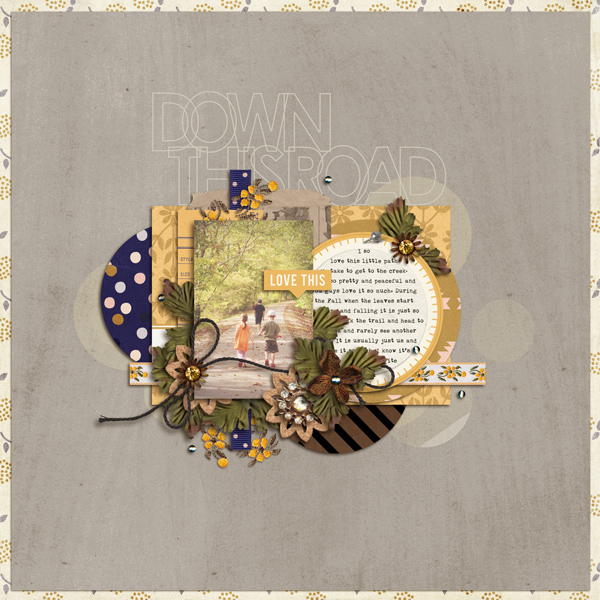 Fall / Autumn digital scrapbook layout by crystalbella77 using Country Road by Sahlin Studio