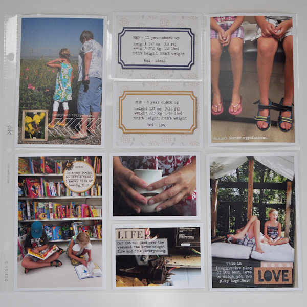 Hybrid Project Life page by ctmm4 using Country Road Kit, Country Road Journal Cards, and Country Road Word Art by Sahlin Studio