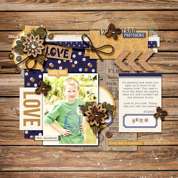 Fall / Autumn digital scrapbook layout by kim21673 using Country Road by Sahlin Studio