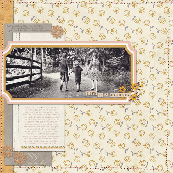 Walking Hand in Hand layout by lcpereyra using Country Road Kit, Country Road Journal Cards, Country Road Word Art by Sahlin Studio