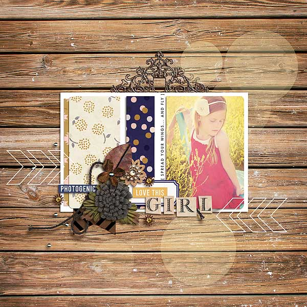 Love This Girl layout by mamatothree using Country Road Kit, Country Road Journal Cards, Country Road Word Art by Sahlin Studio